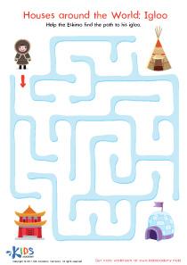 Igloo Printable Maze