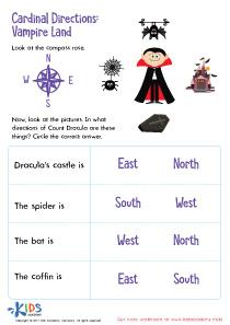 Cardinal Directions Printable Worksheet