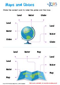 Maps and Globes Worksheet - Printable Science Worksheet