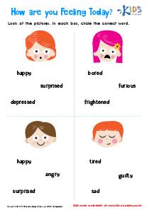 Understanding feelings worksheet