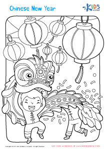 Worksheet: Chinese New Year coloring page