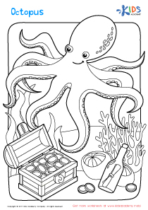 Worksheet: octopus coloring page