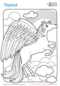 Worksheet: Pegasus coloring page
