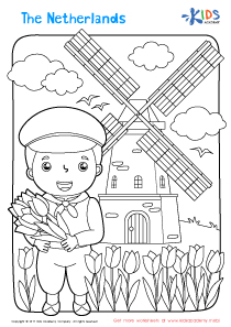 Worksheet: the Netherlands coloring page