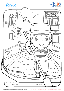 Worksheet: Venice coloring page
