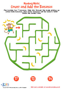Counting Maze Up to 20 Printable