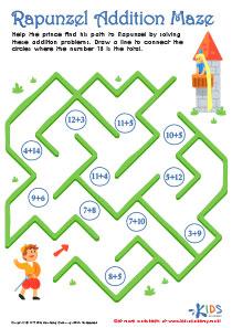 Rapunzel Addition Maze