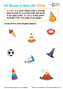3D Shapes in Real Life Cone Printable