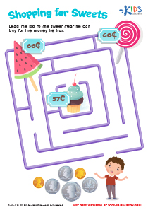 Money Worksheet: Shopping for Sweets