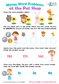 Worksheet: Counting Money