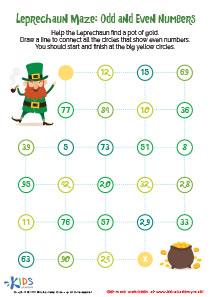 St. Patrick's Day Worksheet: Leprechaun