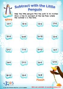 Subtraction puzzle worksheet