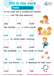 Worksheet: Fill in the Verb