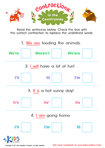 Worksheet: In the Countryside