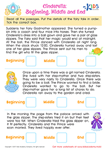 Reading Comprehension Worksheet: Cinderella