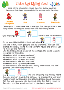 Worksheet: Little Red Riding Hood