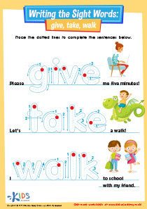 Sight Words: Give, Take, Walk