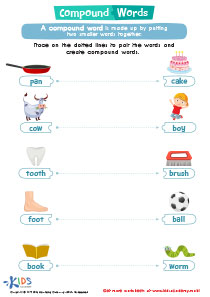 Word structure worksheet: Compound Words
