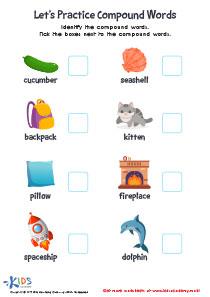 Worksheet: practice compound words