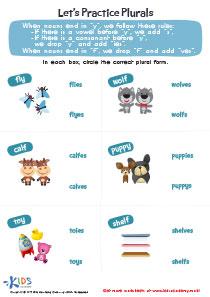 Word structure worksheet: practice plurals