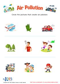 Air pollution printable worksheet