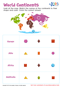 Continents of the world worksheet