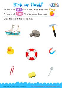 Worksheet: Sink or Float