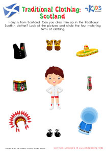Worksheet: Traditional Clothing in Scotland