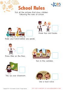 School Rules Worksheet PDF