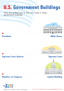 US Government Buildings Worksheet