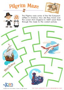 Pilgrim Printable Maze