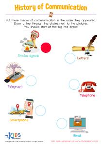 History of Communication Worksheet
