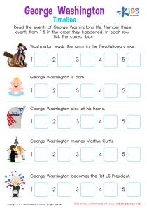 George Washington Printable Worksheet