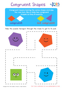 Congruent shapes worksheet