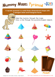 Pyramid geometry worksheet PDF