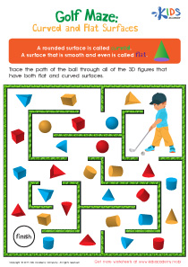 Flat and curved surfaces worksheet