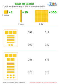 Base ten blocks worksheet for 2nd grade