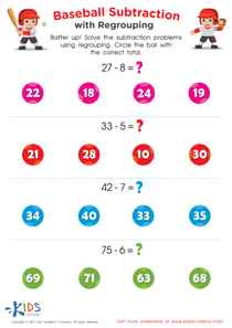 Subtraction with regrouping worksheets for 2nd grade