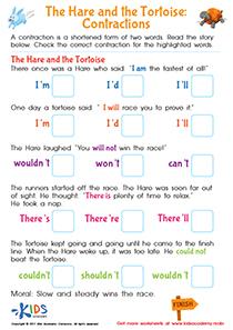 Contractions grammar worksheet pdf