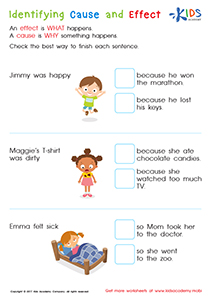 Cause and effect worksheets for 2nd grade
