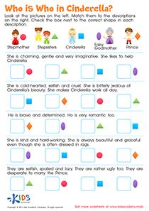 Cinderella comprehension worksheet