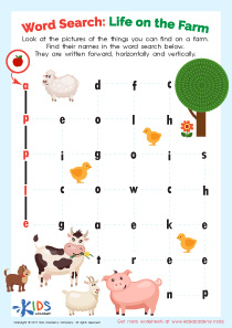 2nd grade word search puzzles