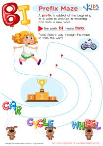 Prefix bi words worksheet