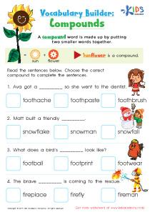 Compound words grade 2 PDF worksheet