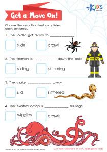 Verb worksheet for grade 2
