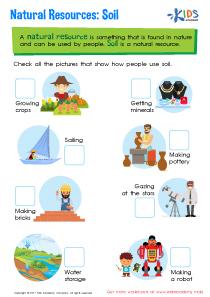 Natural resources soil worksheet
