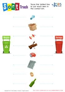 Trash sorting worksheet