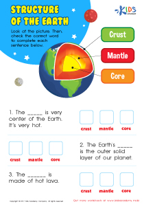 This structure of the earth worksheet