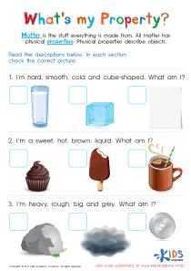 Physical properties of matter worksheet