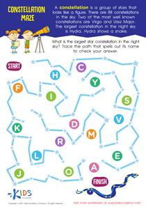 Constellations worksheet free printable